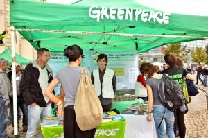 Le stand Greenpeace