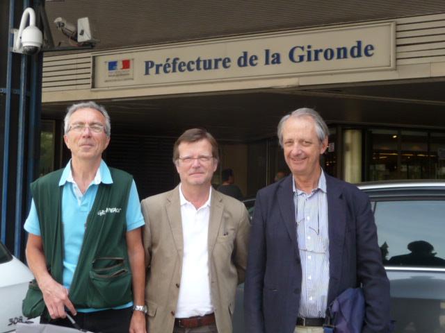 La délégation Greenpeace, ADSHG et Sepanso